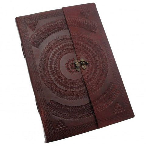 A4 Indra Clasp Embossed Leather Journal 7523