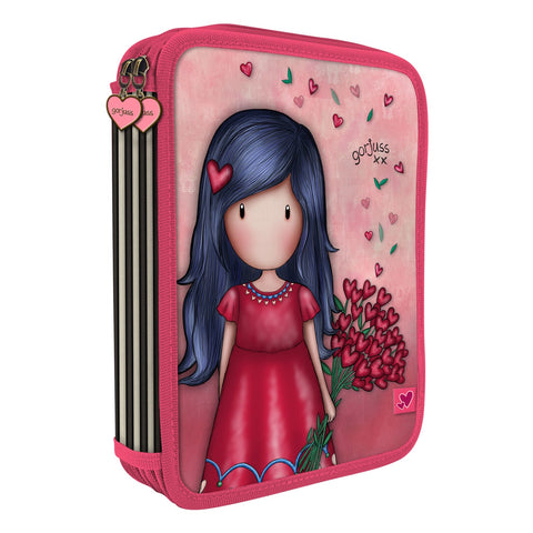 Gorjuss Love Grows Double Filled Pencil Case 10172