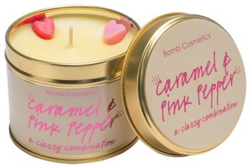 Candle Tin Caramel and Pink Pepper 5536