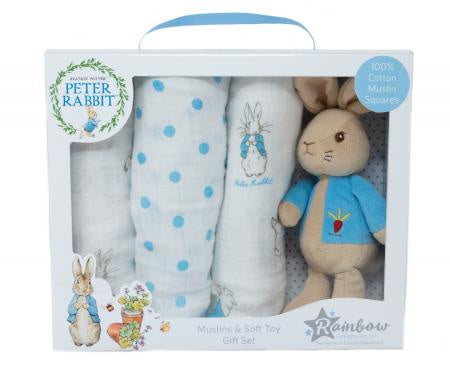 Beatrix Potter Peter Rabbit Soft Toy & Muslin 8875