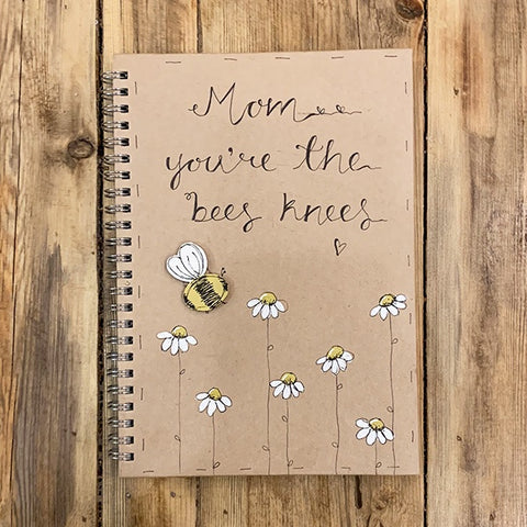 Handmade Notebook with Little Daisies - Mom Bees Knees 9893