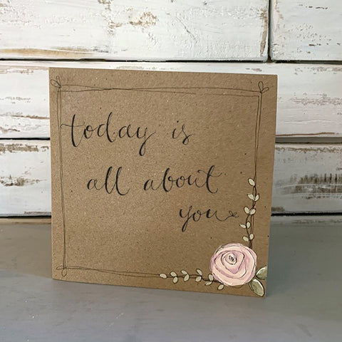 Handmade Rose Card - All About You 9878