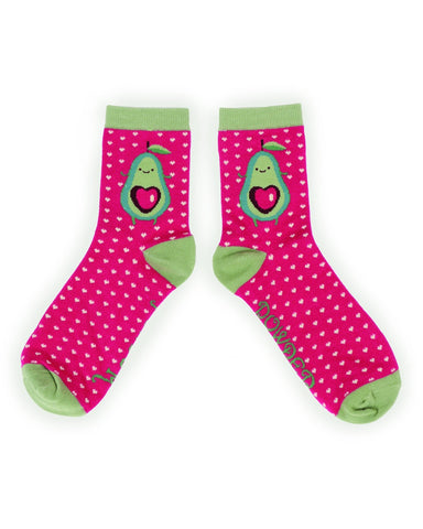 Powder Ankle Sock - Avocado in Fuchsia 9758