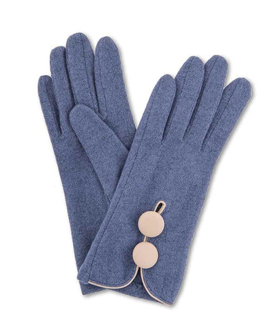 Glove - Mabel Wool in French Navy 6884