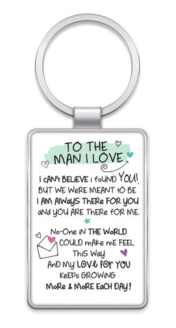 Inspired Words Keyring -To The Man I Love 6429