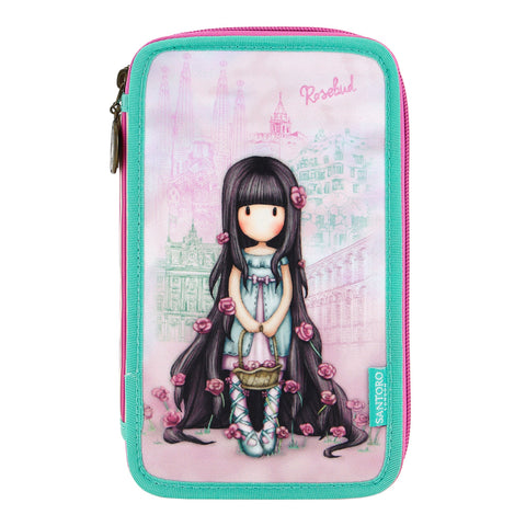 Gorjuss Triple Filled Pencil Case - Rosebud 8097