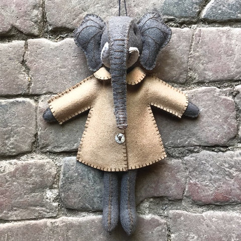 Felt Elephant in Jacket - Ellie 10357