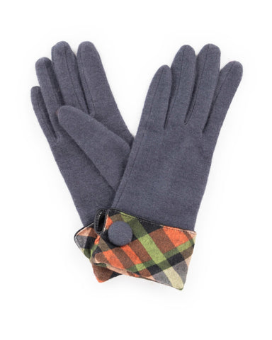 Powder Heather Wool Gloves in Charcoal 8218