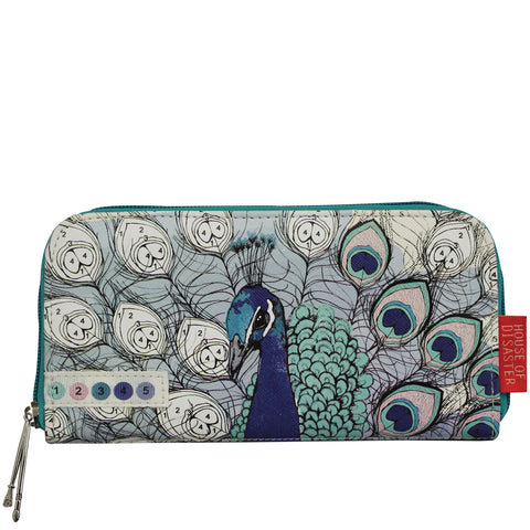 Disaster Colour Me Peacock Wallet 5754