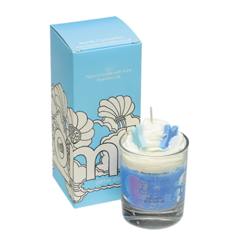 Piped Candle  Cotton Clouds 3661