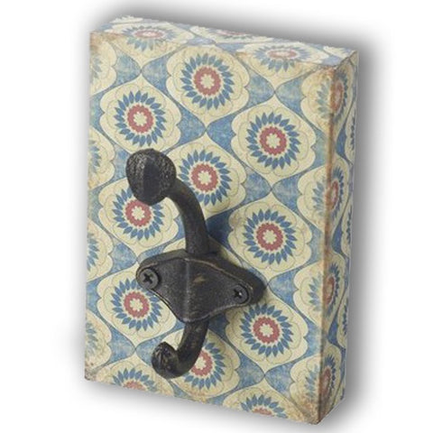 Wall Hook Block - Blue Flower 10129