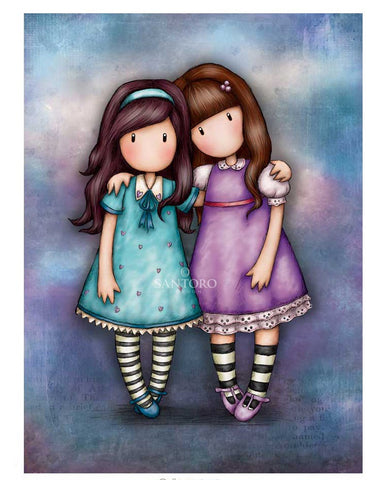 Gorjuss Greetings Card - We Walk Together 3696