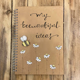 Handmade Notebook with Little Daisies - My Bee-autiful Ideas 9895