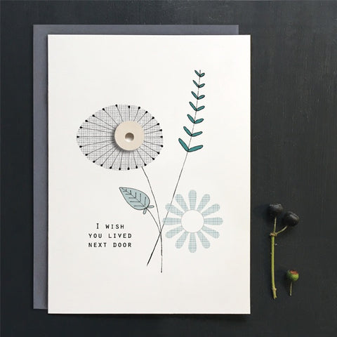 Greetings Card Flower Card - Wish You Lived 11187