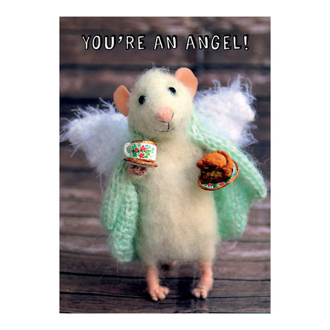 Tiny Squee Mousies Card - You're an Angel 9507