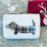 Earth Squared Applique Wool Animal Purse - Grey Dog 6402