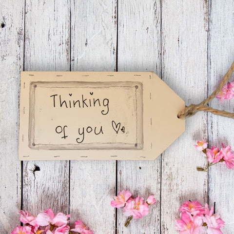 Handmade Wooden Gift Tag - Thinking of You 9873