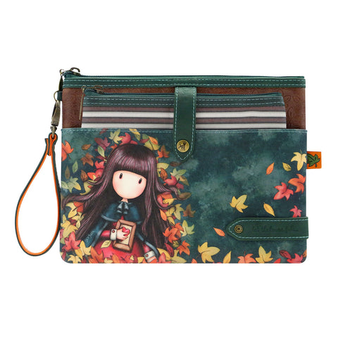 Gorjuss Autumn Wings - Double Pouch Accessory Case 9664