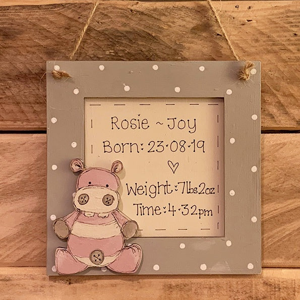 Personalised Animal Range - Square Plq with Border 8648