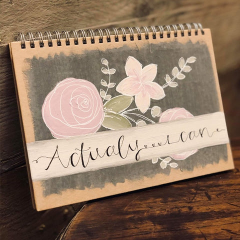 Personalised Notebook - Flowers & Band 9340