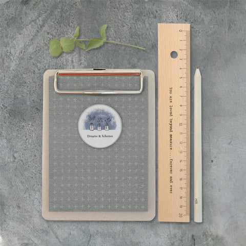 Small Grey Clipboard - Dreams 7664