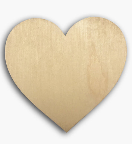 Country Heart Wooden Blank 8576