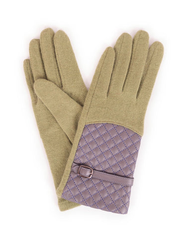 Powder Lizzy Wool Gloves in Pea Green 8215