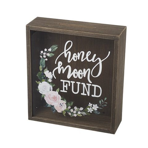 Honey Moon Fund Money Box With Flowers 10131