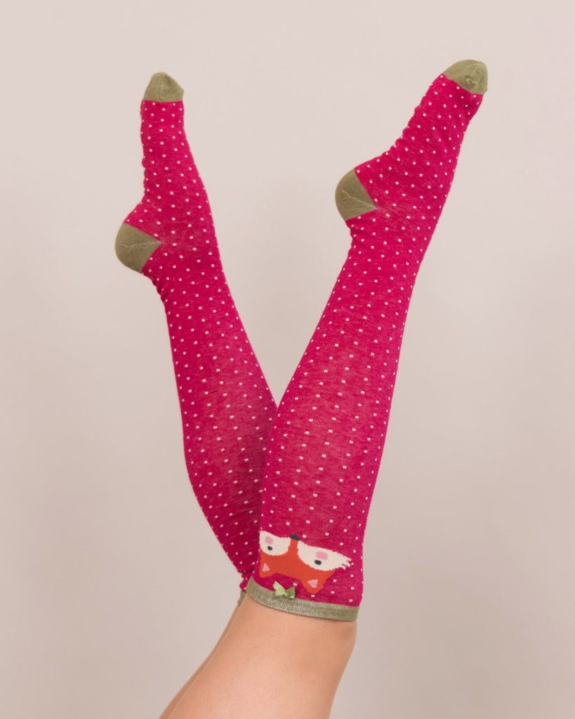 Powder Long Sock - Fox in Berry 8143