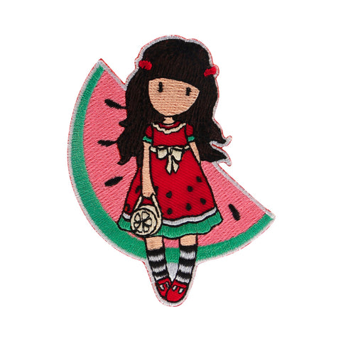 Gorjuss Embroidered Iron-On Patch - Every Summer has a Story 7595