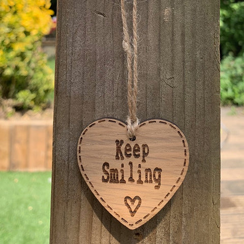 Handmade Little Sentiment Heart - Keep Smiling 10001