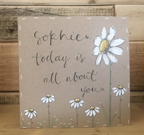 Personalised Card / Postcard - Tall Daisy (Blank) 8722