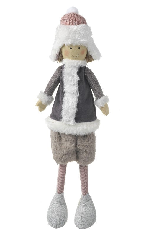 Fabric Boy Christmas Decoration 8171