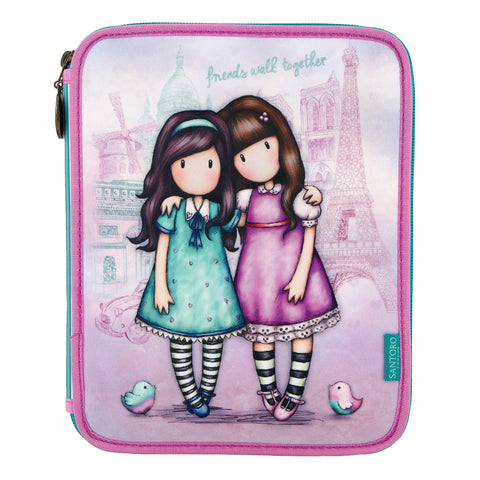 Gorjuss Double Filled Pencil Case - Friends Walk 8098