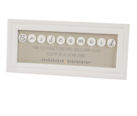 Bridesmaid Plaque 10054