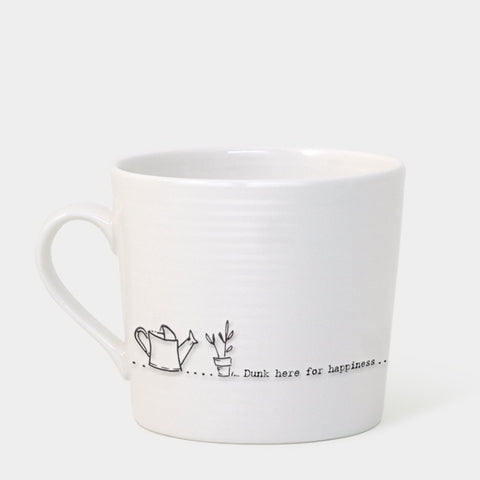 Porcelain Wobbly Mug - Dunk Here for Happiness 7224