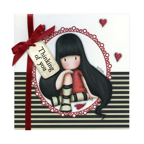 Gorjuss Greetings Card - The Collector Thinking of You 8954