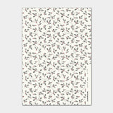 Christmas Label Sticker Sheet - Cream Holly 9302