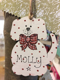Personalised Christmas Dog Plq 8266