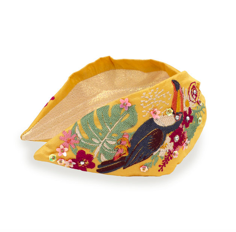 Powder Headband - Toucan in Mustard 9772