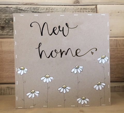 Handmade Little Daisies Card - New Home 9899