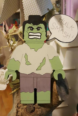 Personalised Superhero Legoman - The Hulk 7492