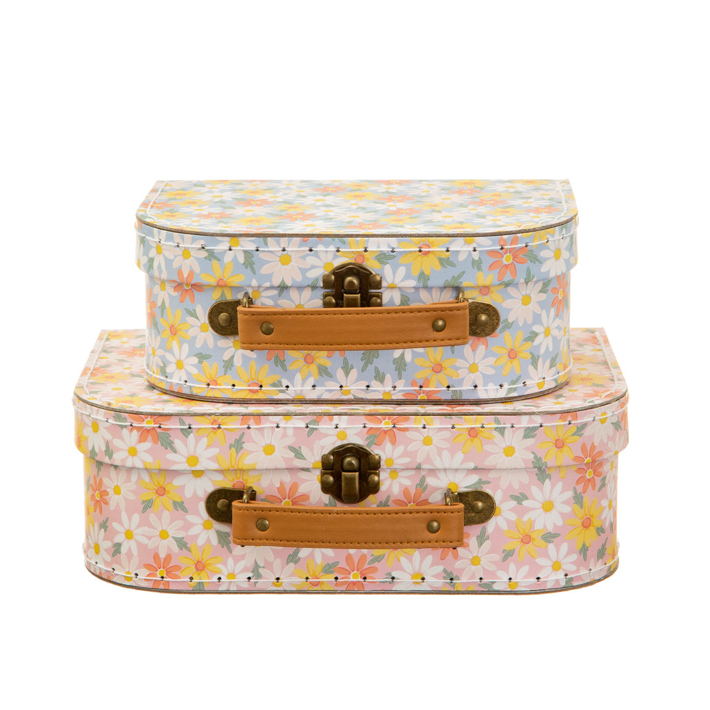 Pink Daisy Suitcases - Set of 2 9474