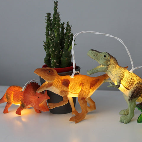 Disaster String Lights with Natural Dinosaurs 7731