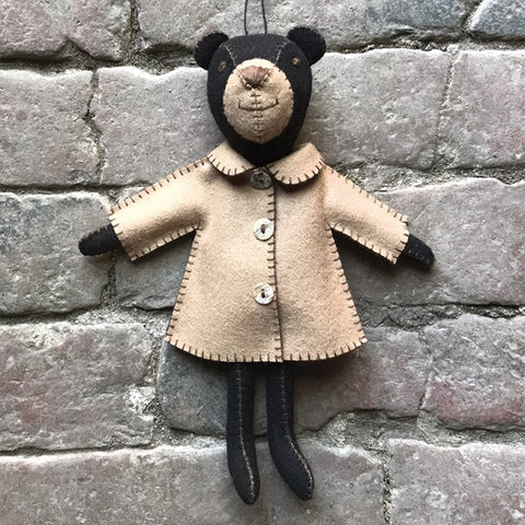 Felt Bear in Jacket - Freddie 10356