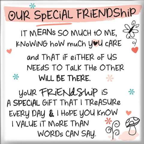 Inspired Words Magnet - Our Special Friendship 6463