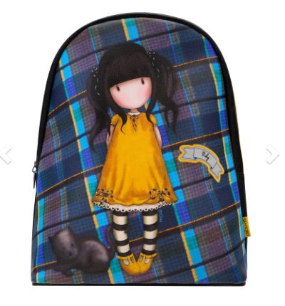 Gorjuss Tartan Fashion Rucksack - Ruby Yellow 8077