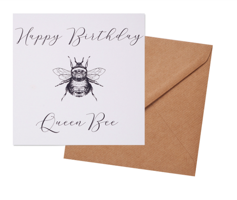 Greetings Card - Queen Bee Birthday Card 10372