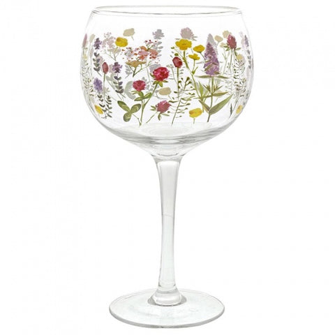 Gin Glass - Wildflowers 8746