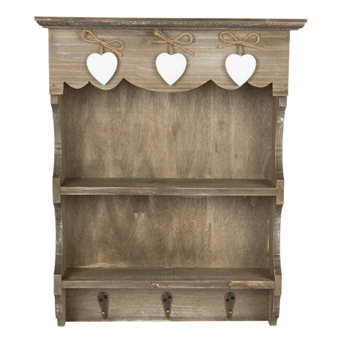 Farmhouse Wall Display Unit with Hooks 10463